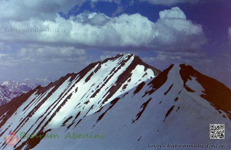 Khers-chal and Boz-chal peak in central Alborz mountain series